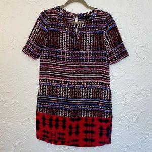 BCBGMaxAzria Short Sleeve Keyhole Dress